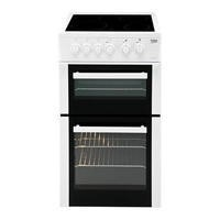 Beko BDC5422AW 50cm Double Cavity Electric Cooker with Ceramic Hob White Best Price, Cheapest Prices
