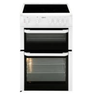 Beko BDC643W 60cm Double Cavity Electric Cooker WIth Ceramic Hob White