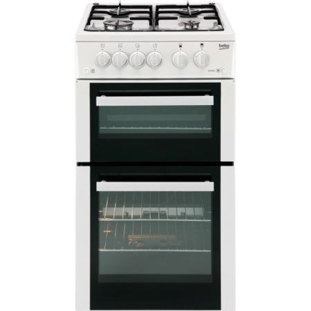 beko bdg582w 50cm wide double cavity gas cooker white. Black Bedroom Furniture Sets. Home Design Ideas