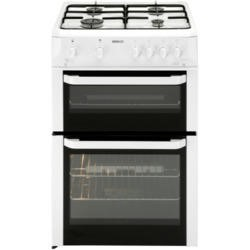 GRADE A2 - Light cosmetic damage - Beko BDG682WP Double Cavity 60cm Gas Cooker - White