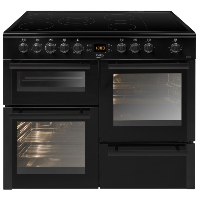 Beko Bdvc100k 100cm Double Oven Electric Range Cooker With