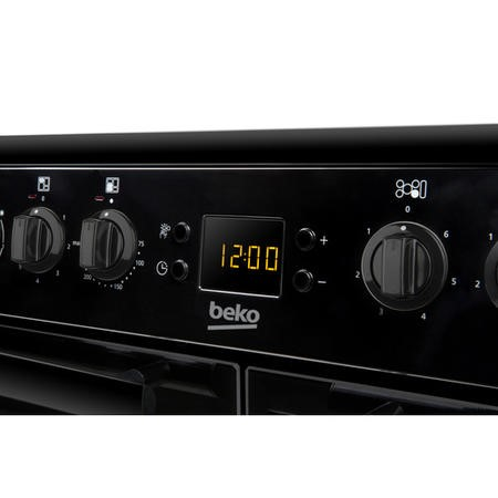 Beko BDVC100K 100cm Double Oven Electric Range Cooker With Ceramic Hob Black