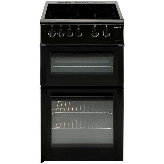 Beko bdvc563ak 50cm wide double oven electric cooker with for Kitchen cabinets 50cm wide