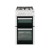 Beko BDVG592W 50cm Wide Double Oven Gas Cooker White