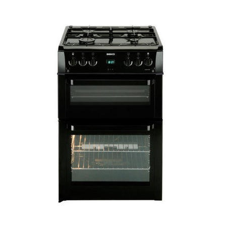 Beko BDVG694KP Double Oven 60cm Gas Cooker - Black