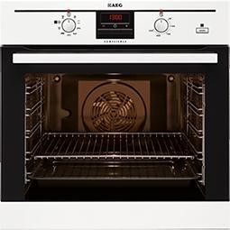 BE300362KW AEG BE300362KW COMPETENCE Electric Built-in Oven with SteamBake Function - White