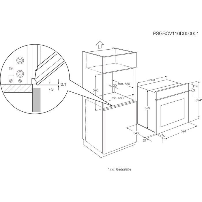 AEG BE330302KM MaxiKlasse Multifunction Electric Built-in