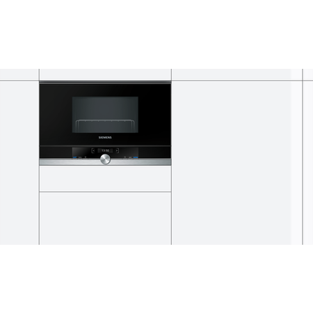 Siemens BE634LGS1B 900W 21L Built-in Microwave With Grill Stainless Steel