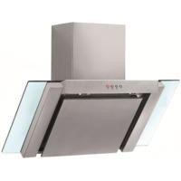 GRADE A2  - Baumatic BE900GL Angled Stainless Steel And Glass 90cm Wide Chimney Cooker Hood