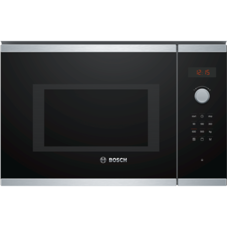 Bosch BEL553MS0B Serie 4 900W 25L Built-in Microwave With Grill - Stainless Steel