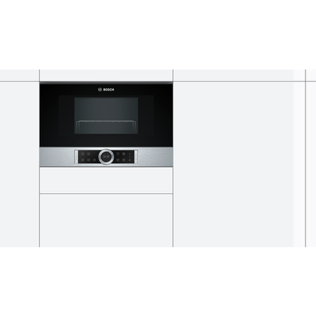 Bosch BEL634GS1B Serie 8 21L 900W Built-in Microwave with Grill Stainless Steel