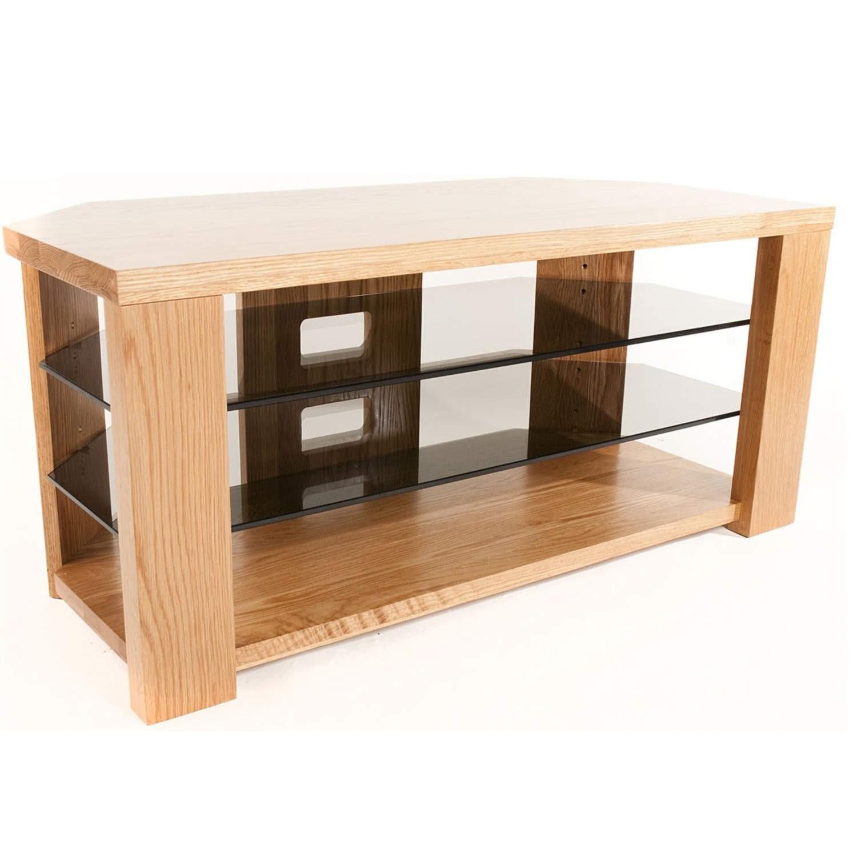 meet 9c308 c0227 Optimum BENCH 1200 Solid Oak TV Stand - Up to 55 inch