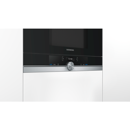 Siemens BF634LGS1B iQ700 21 Litre Built-in Standard Microwave Black And Stainless Steel
