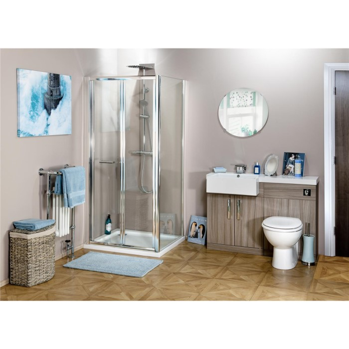 Claritas 6 Glass Bi Fold Folding Shower Door