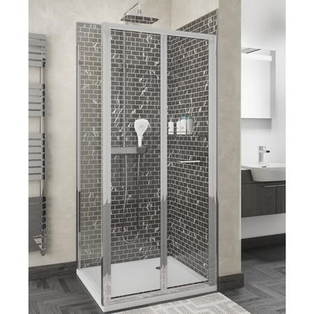 Claritas 6 Bi-Fold Shower Door - 900mm - without Side Panel