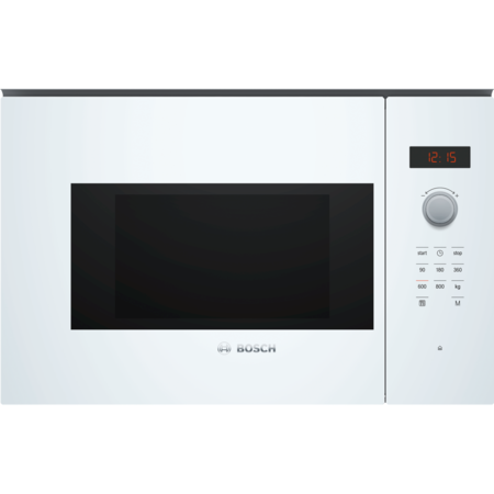 Bosch BFL523MW0B Serie 4 800W 20L Built-in Microwave Oven - White