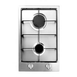 Baumatic BHG300.5SS 29cm Two Burner Domino Gas Hob Stainless Steel