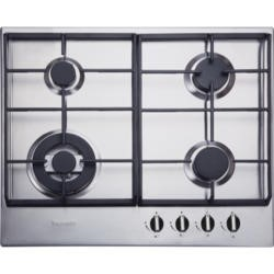 Baumatic BHG625SS 4 Burner 60cm Wide Gas Hob with Wok - Stainless Steel