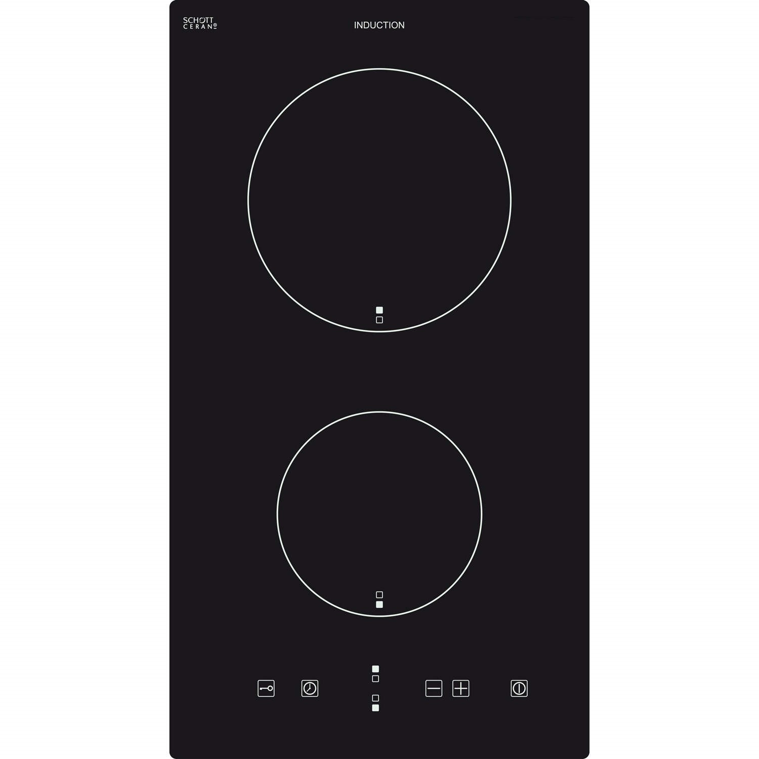 Baumatic BHI300 29cm Two Zone Slim Line Domino Induction Hob