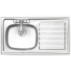Astracast BI0950SR British Standard Single Bowl Right Hand Drainer Satin Polish Stainless Steel Sink