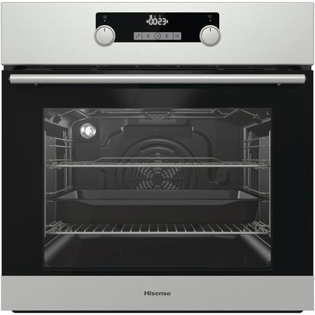 Hisense BI3221AXUK 71L Multifunction Built-in Single Oven - Stainless Steel