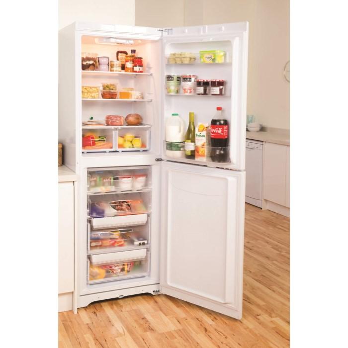 Indesit BIAA134P Free-Standing Fridge Freezer in Polar white ...