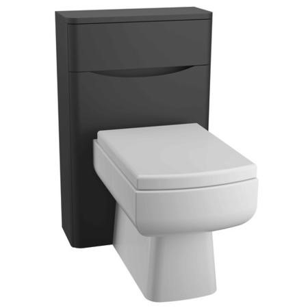 Black Back to Wall WC Toilet Unit - Without Toilet - W500 x D200mm