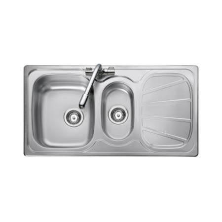 Rangemaster BL9502 Baltimore 950x508 1.5 Bowl Reversible Stainless Steel Sink