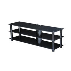 MMT BLKSTD1400 Glass TV Stand - Up to 60 Inch