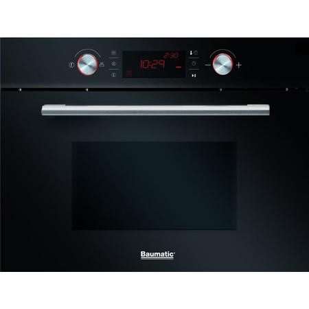 Baumatic BMC460BGL 44 Litre Integrated Combination Microwave Oven Black