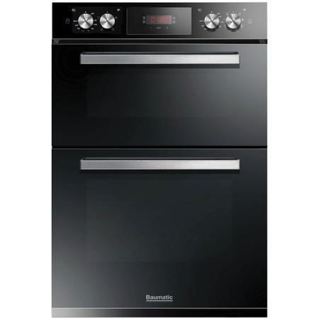 Baumatic BODM984B Multifunction Electric Built-in Double Oven Black