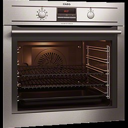 aeg bp3003001m pyroluxe plus electric built in single oven in stainless steel appliances direct. Black Bedroom Furniture Sets. Home Design Ideas