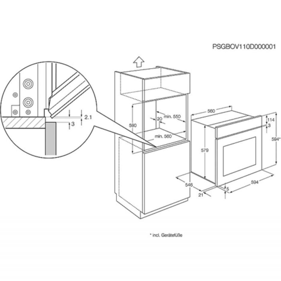AEG BP3003021M MaxiKlasse Pyroluxe Electric Built-in