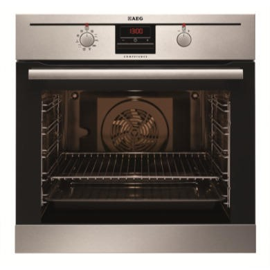 BP300302KM AEG BP300302KM Multifunction Electric Built-in Single Oven With Pyrolytic Cleaning Antifingerprint Stainless Steel