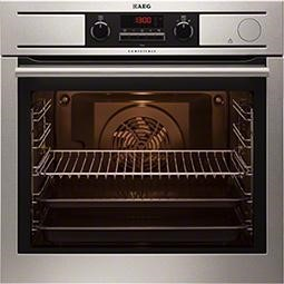 AEG BP5014301M 8 Function Electric Built-in Single Oven With Pyrolytic Cleaning - Antifingerprint Stainless Steel