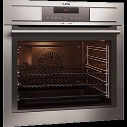 Rørig AEG BP7304151M Pyroluxe Electric Built-in Single Oven in Stainless HQ-06