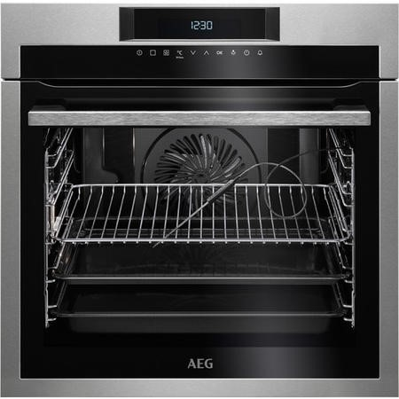 AEG BPE642020M SenseCook Pyrolytic Electric Single Oven - Stainless Steel
