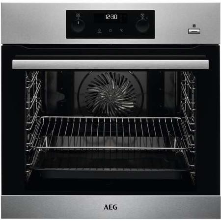 GRADE A2 - AEG BPS355020M SteamBake Pyrolytic Multifunction Electric Single Oven - Stainless Steel