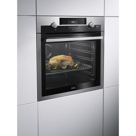 AEG BPS551020M SteamBake Pyrolytic Multifunction Oven Stainless Steel