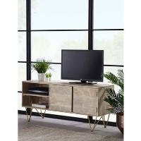 Bengal Light Wood Gold Inlay TV Media Unit - TV's up to 55