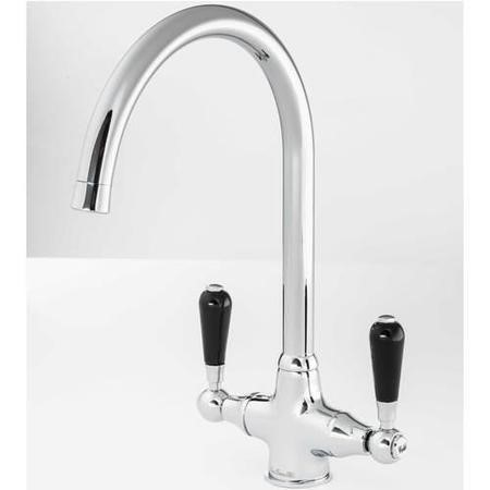 Reginox BROOKLYN Twin Black Lever Chrome Monobloc Tap