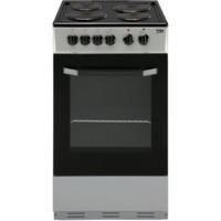 Beko BS530S 50cm Single Oven Electric Cooker With Sealed Plate Hob Silver
