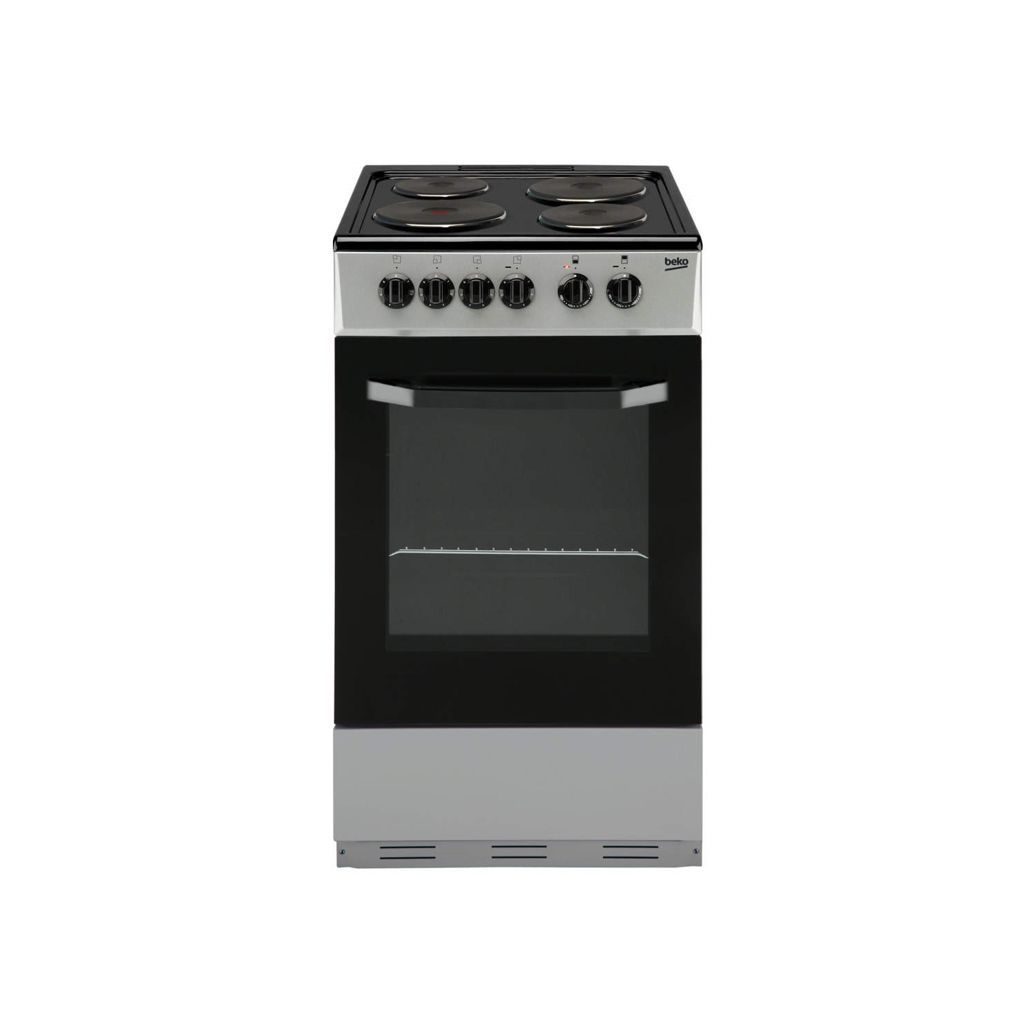 Single Oven Electric Cooker Part - 19: Beko BS530S 50cm Single Oven Electric Cooker With Sealed Plate Hob Silver