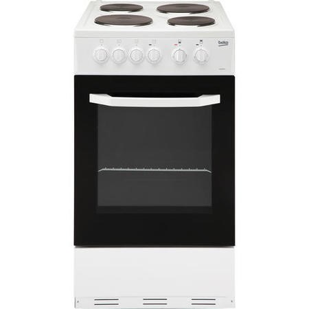 Beko BS530W 50cm Single Oven Electric Cooker With Sealed Plate Hob White