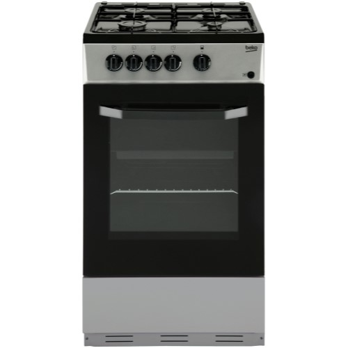 Beko BSG580S 50cm Single Oven Gas Cooker Silver
