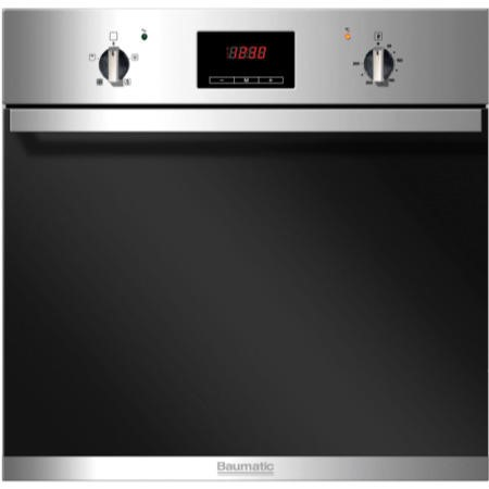 Baumatic BSO616SS Electric Built-in Single Fan Oven With LED Programmer Stainless Steel
