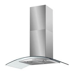 Baumatic BT10.3GL Curved Glass 100cm Chimney Cooker Hood Stainless Steel