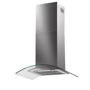 Baumatic BT7.3GL Curved Glass 70cm Chimney Cooker Hood Stainless Steel