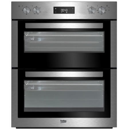 GRADE A3 - Beko BTF26300X Electric Built-under Fan Double Oven Stainless Steel