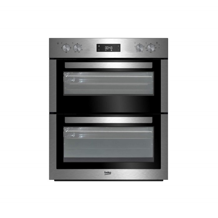 beko btf26300x electric built under fan double oven stainless steel appliances direct. Black Bedroom Furniture Sets. Home Design Ideas